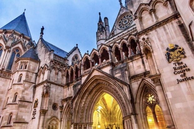Photograph of the entrance to the Royal Courts of Justice