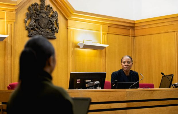 Scene from a magistrates' court.